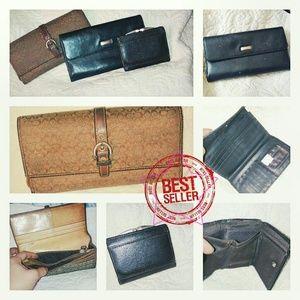 **SALE!! Coach, Wilson's Leather wallet bundle